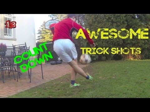 Awesome football trick shots count down greginho98 - Awesome swimming pool trick shots ...