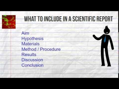 Biology Skills 1 - Scientific Reporting - YouTube - scientific report