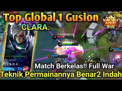 Top Global 1 Gusion CLARA, Player Yg Berhasil Menyalip Posisi Global 1 GS Jess No Limit.