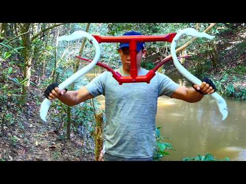 Building Amazing PVC Power Springs Compound Bowfishing For Shooting Huge Fish   -Make n Use