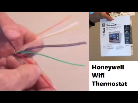 Installing Common Wire for Wifi Thermostat - YouTube