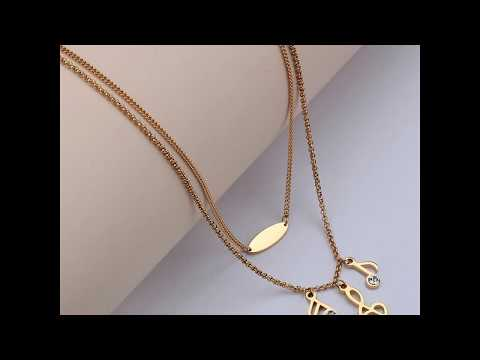 Fashion Pendant Necklace Musical Note Design