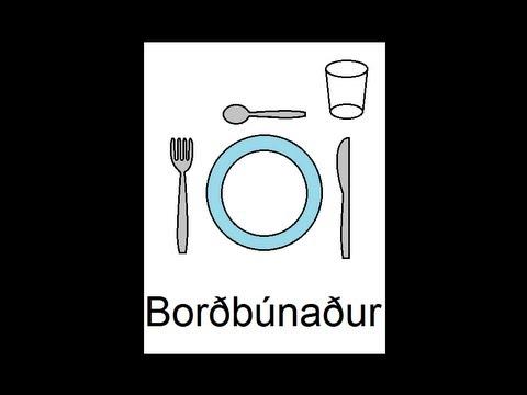Icelandic Lesson #43: Tableware - Singular and Plural, Pronunciation
