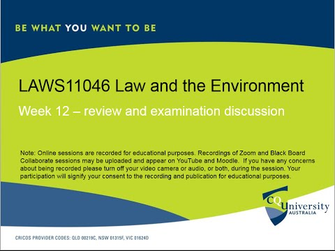 LAWS11046_12 Law and the Environment