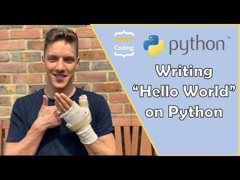 """Python Tutorial: Installing Python & Writing """"Hello World"""" thumbnail"""