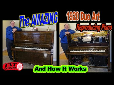 #1225 The Amazing DUO ART REPRODUCING Player Piano from 1920 & How It Works! TNT Amusements