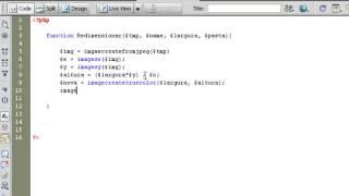 video aula de php 33 func redimensionar img