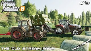 Hay bales | Animals on The Old Stream Farm | Farming Simulator 19 | Episode 3