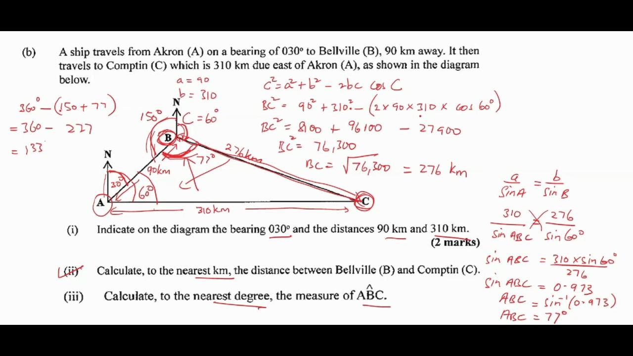 CSEC Maths - January 2017 Question 10 - YouTube