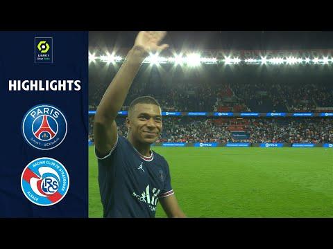PARIS SAINT-GERMAIN - RC STRASBOURG ALSACE (4 - 2) - Highlights - (PSG - RCSA) / 2021-2022