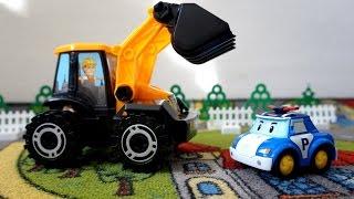 Видео про рабочие машины. Собираем трактор (погрузчик)