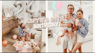 aspyn's 24th birthday special!! first birthday with a baby
