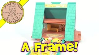 Fisher-price Vintage Play Family A Frame House Swiss-styled Chalet Playset #990 From 1974