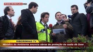 Ministro do Ambiente anuncia obras de proteção da costa de Ovar