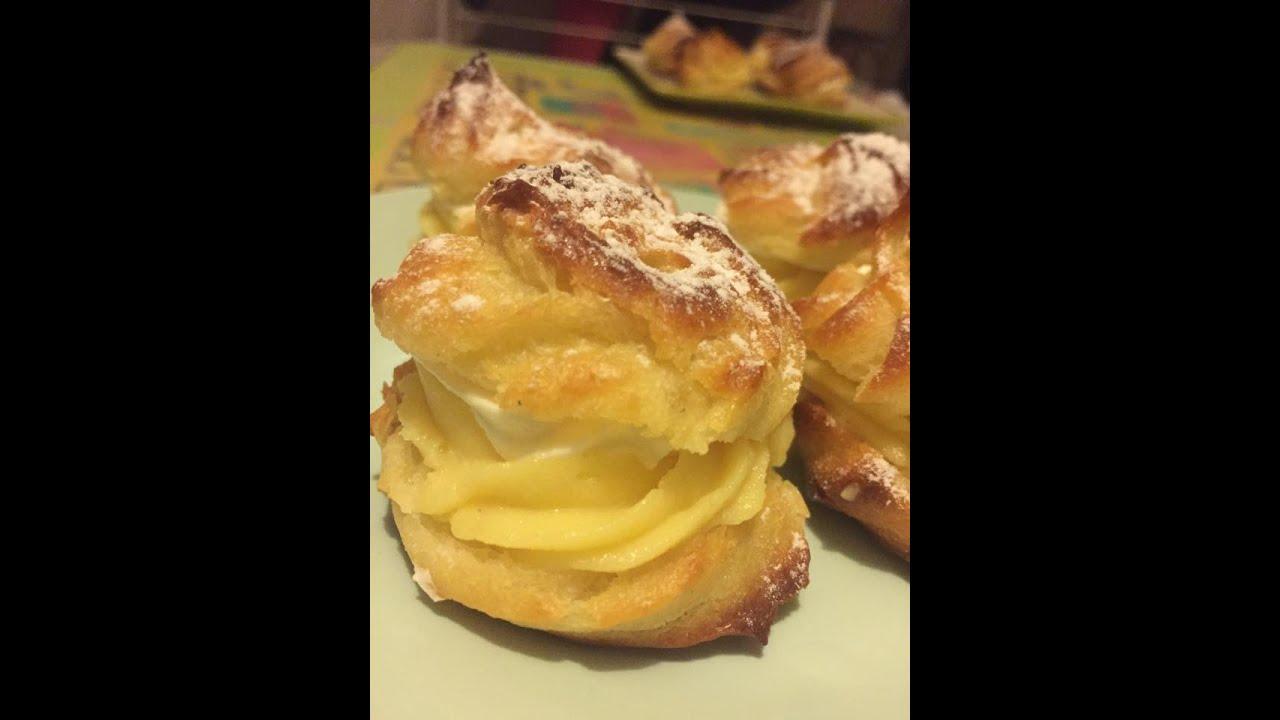 (Choux crème patissière chantilly) Bánh su kem công thức chuẩn Pháp