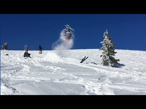 My First Attempts at Backflip on Skis