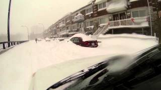 Snow Storm Tempete de neige  Dec 27th 2012 Montreal Go Pro