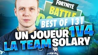 BEST OF SOLARY FORTNITE #131 ► UN JOUEUR 1V4 LA TEAM SOLARY !!