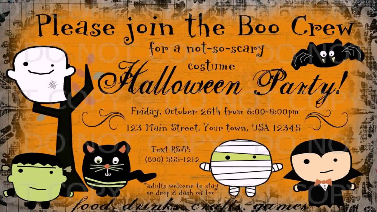 Diy Halloween Party Invitations - YouTube