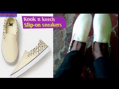 Kook N Keech Men Cream Colored Slip On Sneakers