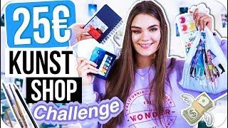 25€ KUNST SHOP Challenge - Anfänger Kit für Schüler! + Live Haul & Verlosung // I'mJette