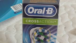 Oral-B Cross Action Electric Toothbrush Replacement Brush Head VS PRECISION CLEAN HEAD REVIEW