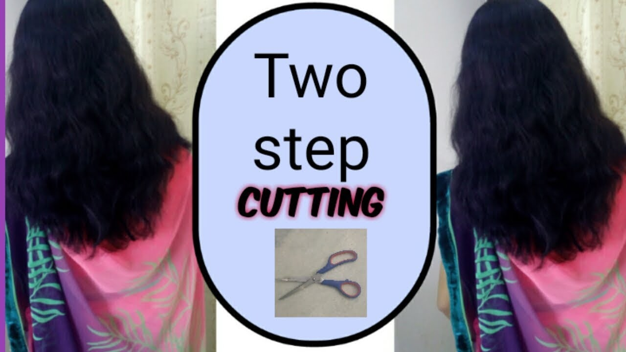Two step hair cutting long hair/ how to do 11 step haircut