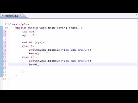 Java programming tutorial 12 switch statement youtube - Switch case java ...