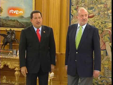 Chávez al Rey: Te has dejado barba como Fidel Castro