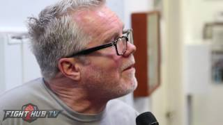 "Freddie Roach to Marquez ""Lets do it! Its now or never!"" Says Cotto can go down to 147!"