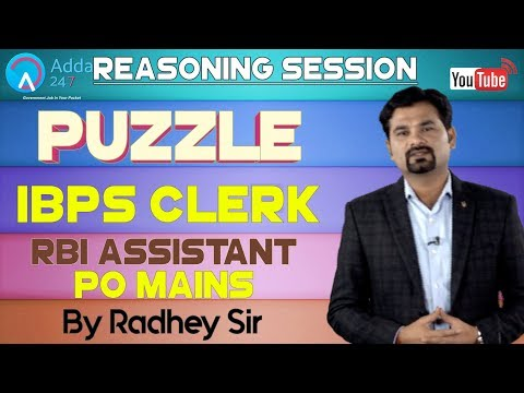 puzzle-for-ibps-clerk,-rbi-assistant,-ibps-po-mains-by-radhey-sir-|-reasoning