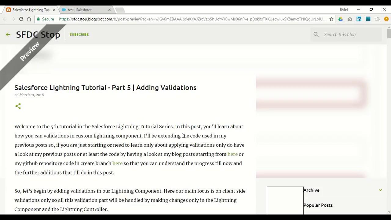 Salesforce Lightning Tutorial - Part 5 | Adding Validations