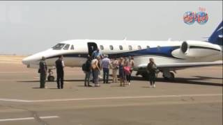 أخبار اليوم   لحظة وصول عائلة كرستيانو رونالدو مطار شرم الشيخ