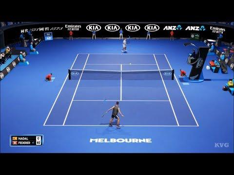 AO Tennis 2 - Rafael Nadal Vs Roger Federer - Melbourne Park Gameplay (PC HD) [1080p60FPS]