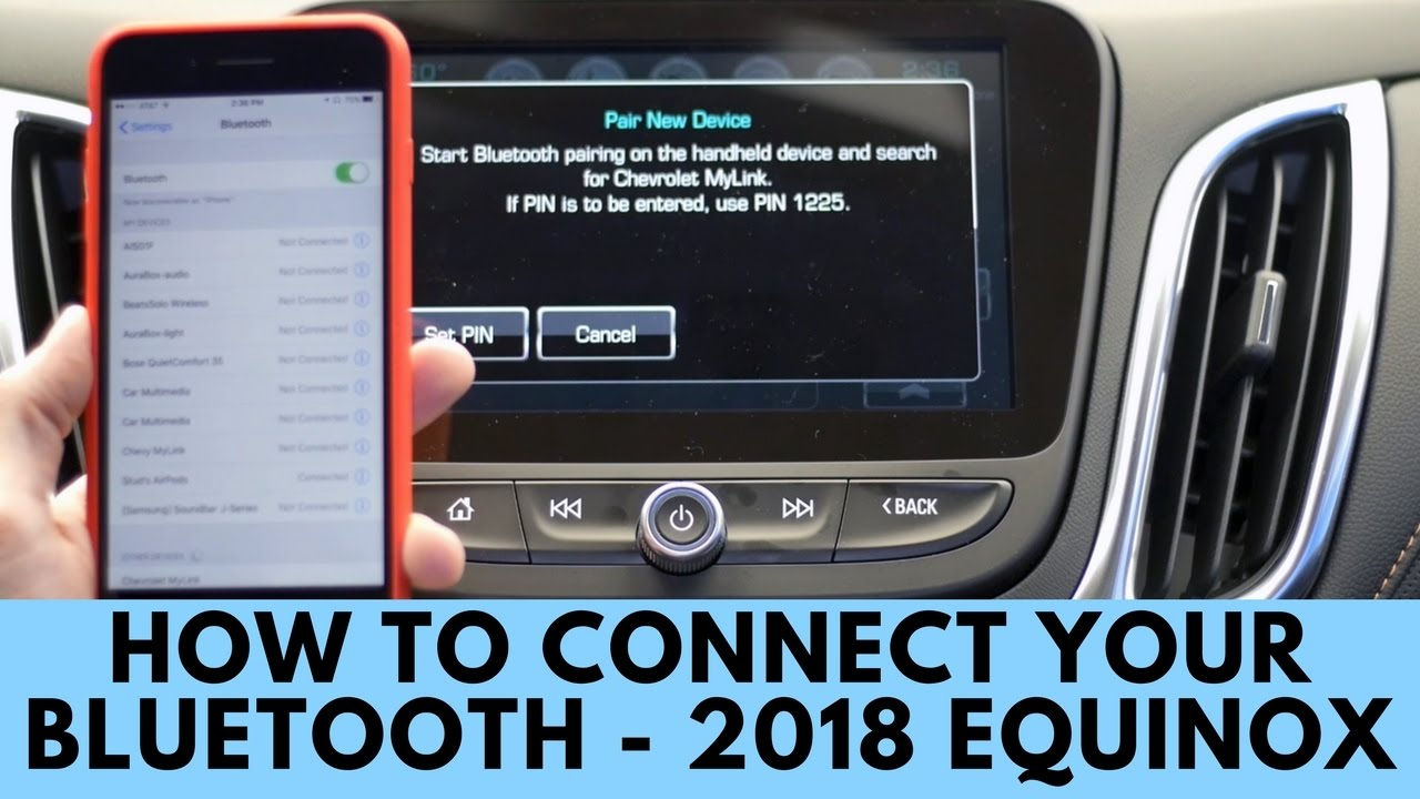 2018 Chevy Equinox >> 2018 Chevrolet Equinox: How to Connect Bluetooth - YouTube