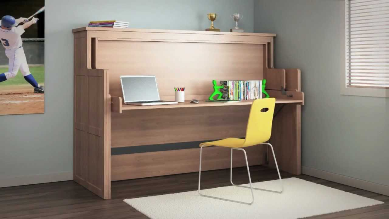 ORG Home Desk Bed - Watch a Desk Turn into a Bed - YouTube