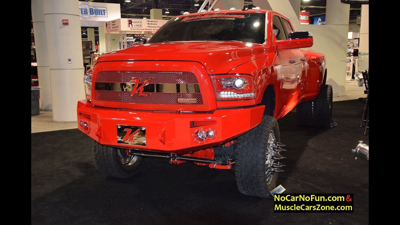 2015 dodge ram 2500 truck dually built by kellerman 2015 sema motor show youtube. Black Bedroom Furniture Sets. Home Design Ideas