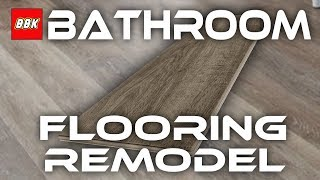 Bathroom Floor Remodel - Removal and Installation of Stainmaster Luxury Vinyl Planks