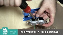 Electrical Outlet Install: Tool Charging Drawer