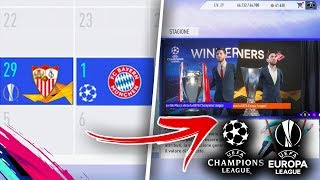 Guardate COSA SUCCEDE se VINCI CHAMPIONS e EUROPA LEAGUE nella stessa STAGIONE su FIFA 19