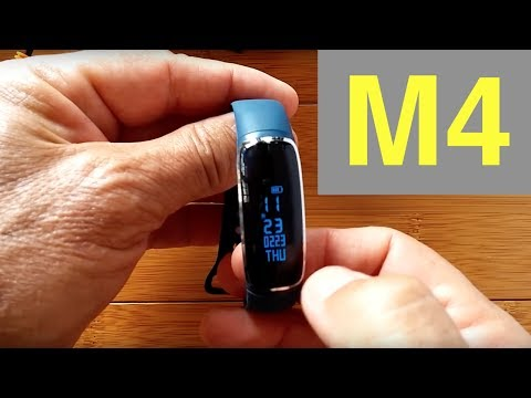 M4 Blood Pressure Reading Smart Bracelet: Unboxing and Revie