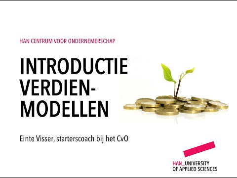 3e deel training business innovatie: verdienmodellen