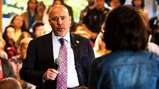 Woman Owns Rep. Tom MacArthur at Town Hall