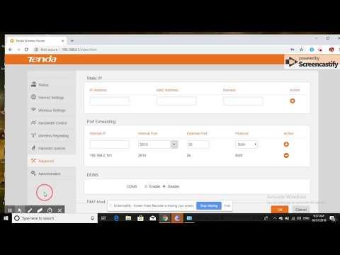 how to  Port Forwarding in Tenda router