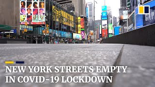 New York City streets empty amid Covid-19 lockdown