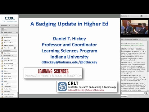 A Badging Update in Higher Education - A conversation with Daniel Hickey