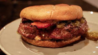 Peanut Butter and Pineapple Jalapeno Pepper Jelly Beef Burger