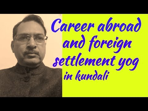 Career in foreign in birth chart// Foreign settlement yog in astrology
