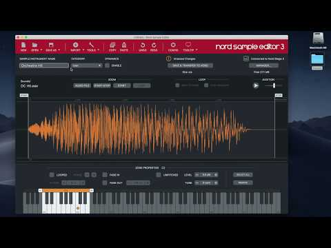 Nord Sample Editor 3: #1 Creating a sample instrument using one sample