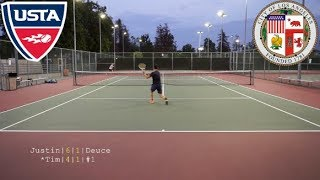 Rematch with Justin: USTA NTRP 4.5 Singles Highlights HD